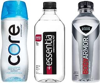 Enhanced pH Water Variety Pack - Core Hydation, Essentia, BodyArmor Superwater- 20 Fl Oz (36 Pack)