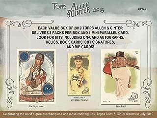 2019 Allen & Ginter Baseball Blaster Box (8 Packs/6 Cards: 1 Mini Parallel)