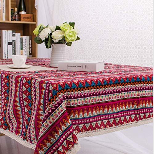 KUATAO Mantel de Tela de Mesa Hotel Comedor Cubierta Antipolvo Mantel de Alambre de algodón Posmian