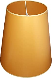 Abażur 400x250x400 mm średnica dolna x średnica górna x wysokość   Stożek   Złoty pvc   Nakładany na dużą bańkę żarówki   ...