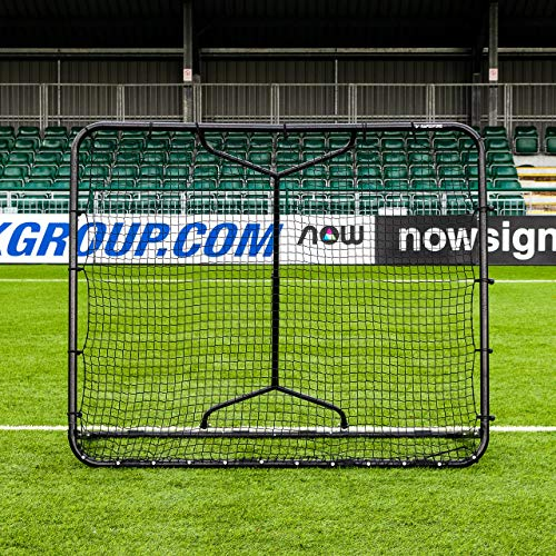 RapidFire Mega Football Rebounder | Adjustable Football Rebound Net [Small Or Large] (Small (5ft x 6ft))