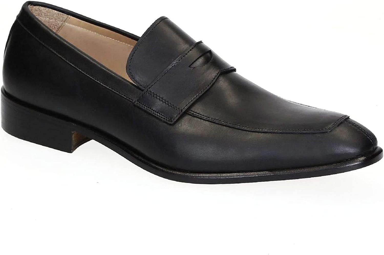 Leonardo Leonardo Leonardo Shoes Herren 4121Black Schwarz Leder Mokassins B07PKPTKVQ  b7da2f