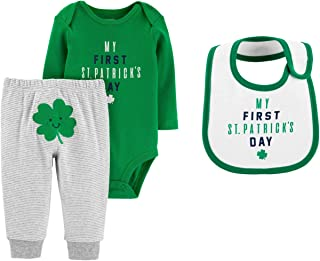 Carter's Baby's My First St Patrick's Day Bodysuit Pants and Bib Set