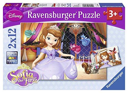 Disney Princess - La Princesa Sofía, Puzzle de 2 x 12 Piezas (Ravensburger 07570 6)