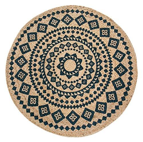 Luxor Living Teppich Mamda aus Jute, rund, strapazierfähig, handgeflochten, Farbe:Beige, Größe:Ø 120 cm