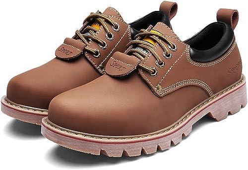 ZQ@QXLoisirs de plein air d'hiver tête basse bottes bottes bottes hommes chaussures cuir d'outillage 424
