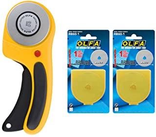 OLFA Rotary cutter RTY-3/DX 60mm Ergonomic Handle with Free 2 Rotary Blade