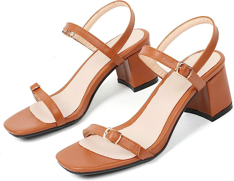 Charismatic-Vibrators Women Sandals Elegant Casual Women shoes Platform Pu Leather All Match Buckle Square Toe Sandals