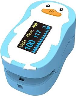 Dedo del bebé oxímetro de pulso pediátrico 1-12 años de edad Oximetro de dedo SpO2 PR OLED neonatal niños niños Pulsioximetro recargable