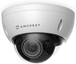 Amcrest ProHD Outdoor 3 Megapixel POE Vandal Dome IP Security Camera - IP67 Weatherproof, IK10 Vandal-Proof, 3MP (2048 TVL), IP3M-956E (White) (Renewed)