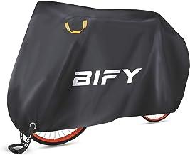 BIFY Fahrradabdeckung L/XL/XXLwasserdicht 190T hochwertige Fahrrad/Motorradabdeckung, Fahrrad Schutzhülle mit Schlosslöcher,Sonnenschutz und Regen