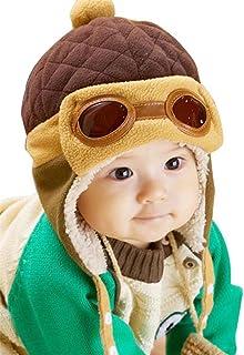 TMEOG Berretti e Cappellini Bambino, Invernale Cappa Calda Beanie Earflap Cappello per i più Piccoli Ragazzino Aviatore Pi...