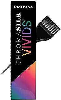 Pravana ChromaSilk VIVIDS Hair Color Shades with Silk & Keratin Amino Acids Dye (with Sleek Brush) Haircolor (Orange)