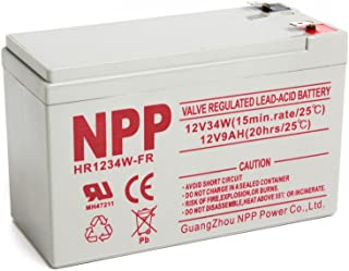 NPP HR1234W FR 12V 34W 12Volt 9Amp High Rate Long Life Rechargeable Sealed Lead Acid UPS Battery