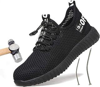 [Ziitop] 安全靴 メンズ 作業靴 メッシュ スチールトゥ ケブラー 繊維ミッドソール 刺す叩く防止 耐磨耗 スニーカー 滑り止め 快適 鋼製先芯 防護靴 通気性抜群 スチールトゥ 防臭 衝擊吸収