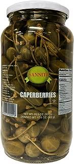 Sanniti Spanish Caperberries (Caper Berries) in Vinegar and Salt Brine - 33.5 oz