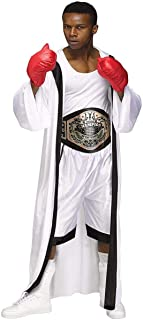 Charades Men's The Boxer Costume with Hooded Robe