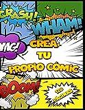 Crea tu propio Cómic: 120 Originales Plantillas de Cómics en Blanco