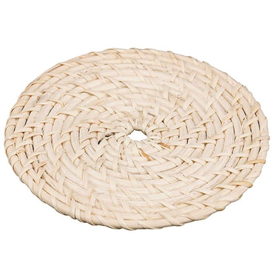 期限切れビーチ汚れたカンダ 籐製 白鍋敷 小 300042