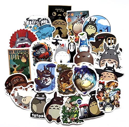 GSNY Dibujos Animados mi Vecino Totoro Pegatina Impermeable Pegatina para Maleta Pegatina para Maleta con Personalidad monopatín Coche eléctrico Funda para Carro de Guitarra 50 Hojas