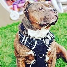 BABYLTRL Big Dog Harness No Pull Adjustable Pet Reflective Oxford Soft Vest for Large Dogs Easy Control Harness (L, Black)