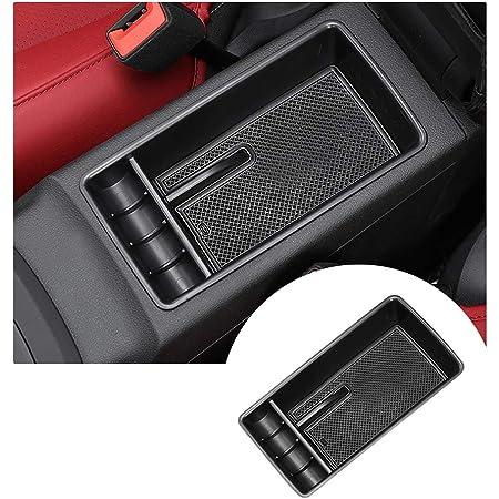 Per 2008-2014 Fabia Di fascia alta Auto Center Console Bracciolo Box Scatola bracciolo Accessori con Portabicchieri e Posacenere rimovibile 7 porte di ricarica USB Organizer Beige
