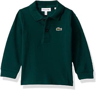 Boys Long Sleeve Solid Polo Shirt