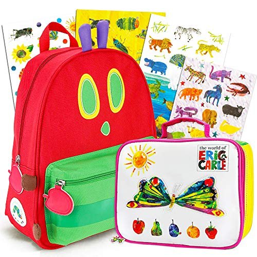 World of Eric Carle Backpack and Lunch Box Set - Deluxe 14' Mini Very Hungry Caterpillar Backpack with Insulated Lunch Box (Eric Carle Very Hungry Caterpillar School Supplies)