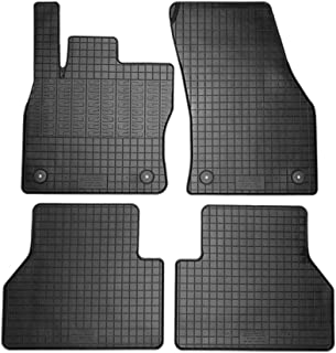 AutoStyle CK RVW02 Set of Rubber Mats for Volkswagen Caddy V MPV 2020 (4 Pieces + Mounting System)