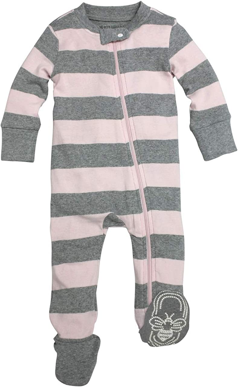 Burts Bees Baby Baby Girls Pajamas Zip Front Non-Slip Footed Sleeper Pjs 100/% Organic Cotton