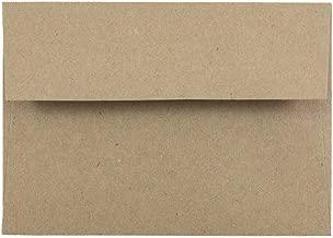 JAM PAPER 4Bar A1 Premium Invitation Envelopes - 3 5/8 x 5 1/8 - Brown Kraft Paper Bag - 50/Pack