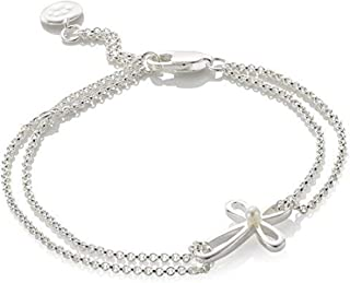 Girl's Holy Communion Freshwater Pearl & 925 Sterling Silver Cherish Cross Bracelet Arrives with Luxury Jewelry Gift Box