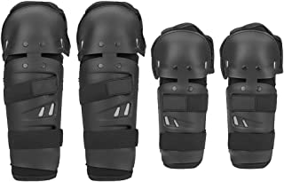 4Pcs Adults Motorcycle Elbow Knee Pads, Motocross Cycling Elbow Knee Pads Protector Shin Guard Pads Armors Set Black