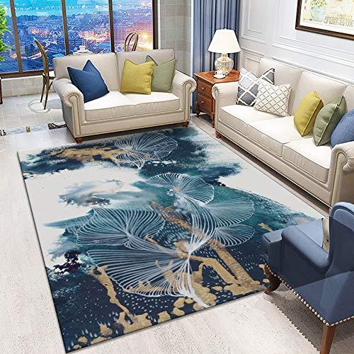 Oukeep Wohnzimmer Rutschfester Gepolsterter Teppich Nordischer Abstrakter Stil Gepolsterter Samt Schlafzimmerteppich Am Bett Lange Decke Couchtischmatte