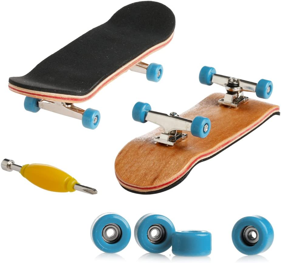 xiuersty Discount mail order Mini Fingerboards Finger Skateboard Deck Wooden Max 67% OFF Toy Min
