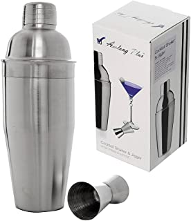 Amlong Plus Professional 24oz Cocktail Shaker Set with Double Jigger