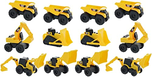 Road Rippers CAT Construction 12 Pack Toys - 4 x Dump Truck, 4 x Bulldozer, 4 x Wheel Loader