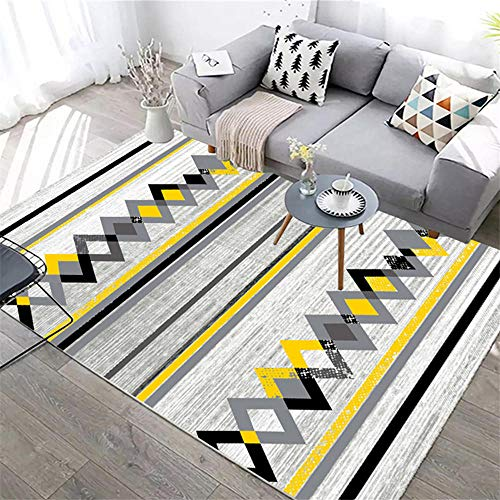 GQBN Chair Mat For Carpet Floors Living room, study, kitchen, bedside, home geometric pattern rug Floor Rugs Living Room Rugs And Carpets grey 50 * 80cm
