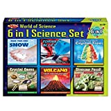 6 in 1 Science Set Make Your Own Volcano Tornado Crystal Gems Dinosaur Fossil Snow Toy Kit