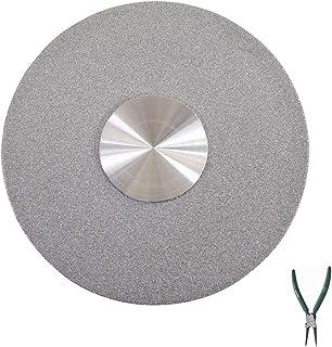 DIOE Socle rond en verre trempé, plateau tournant argenté Lazy Susan argenté, matériel de plaque pivotante pour table de s...