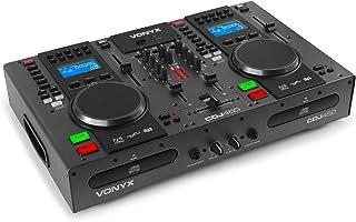 Vonyx CDJ450 Mezclador de 2 Canales para estación de Trabajo DJ