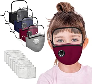 Cotton Face Màsc with Eyes Bandana for kids and adult (Multicolor, with valve, Button)