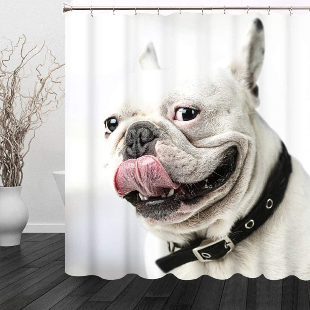 Rapid rise DCPPCPD Animal 3D Printed Polyester Curtain Tongue Oklahoma City Mall Shower White