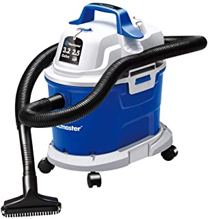 Vacmaster Wet Dry Vacuum 3.2 Gallon 2.5 Peak HP Wall Mounted Shop Vacuum Cleaner with Extension Wands Tool Storage & Wall ...