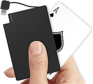 TNTOR 小型 モバイルバッテリー ケーブル内蔵 超薄 4mm 軽量 ポータブルバッテリー 2500mAh iPhone対応【PSE認証済】
