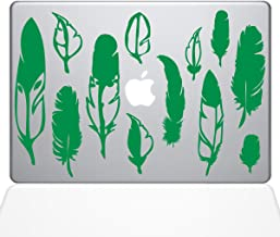 "The Decal Guru Woodland Feathers Macbook Decal Vinyl Sticker  - 13"" Macbook Pro (2016 & newer) - Green (1267-MAC-13X-LG)"