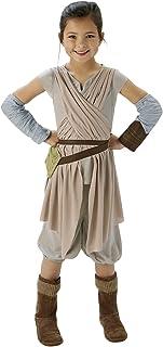 Rubie's Deluxe Rey Girls Fancy Dress Disney Star Wars Force Awakens Kids Childs Costume