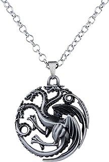 lureme Vintage Hollow Out Dragon Pendant Costume Necklace (nl005382)