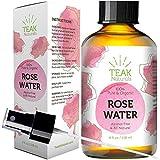 Rose Water Toner by Teak Naturals, 100% Organic Natural Moroccan Rosewater (Chemical Free) 4 oz
