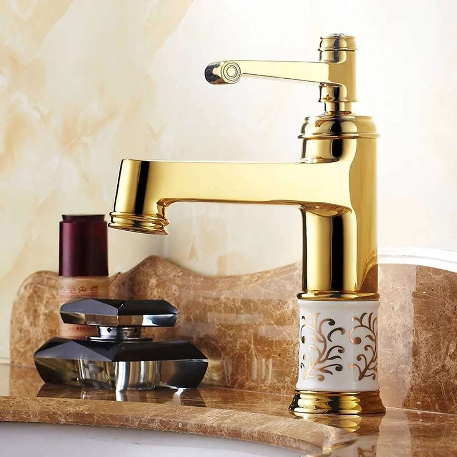 Gyps Faucet Basin Mixer Tap Waterfall Faucet Antique Bathroom Mixer Bar Mixer Shower Set Tap antique bathroom faucet Surface Sinks Faucets full copper antique bluee ceramic hot and cold valves tjin,Mo